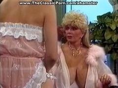 Sexy retro gal aroused seduction