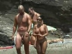 Beach nudist twat