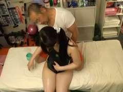 Schoolgirl Bathing Suit Rubdown 2of4 censored ctoan