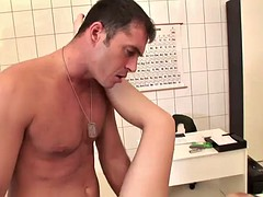 busty doctor's fucked sliiy by an ill patient