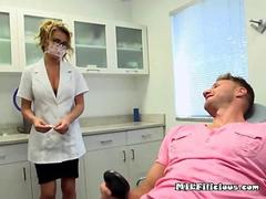 sucking on his dentists boobs as a anesthetic
