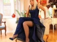 Blue shoes and along with along with sexy dress and along with along with lingerie