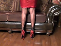 Red Hot Skirt and Bulging Corset