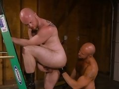 Hot daddy fetish with facial