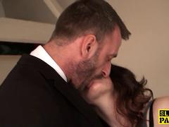 Squirting british babe fingered in wet pussy
