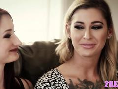 Real lesbian couple in adult industry