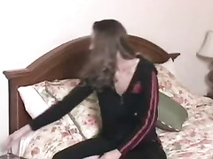 Massage on a tight body and multiple orgasm