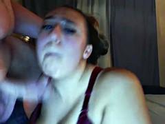 Chubby Teen Cock Suckin'
