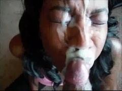Семяизвержение, Сперма на лице