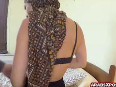 アラブ, デカチン, フェラチオ, デブ, 手コキする, ハードコア