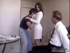 Raylene's handsome hubby gets pinioned up and made to witness his wife get nailed