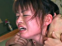 Asian bitch goes through a rough bdsm session