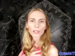 Real Russian tgirl toying her butthole