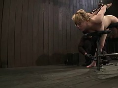 captive blonde sucks off & gets nailed