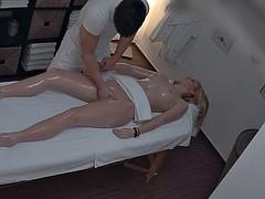 Amateur, Blonde, Massage, Voyeur