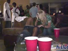 Lovely blonde gets rammed at a party