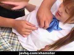 Japanes teen in school uniform gets bitchy Uncensored
