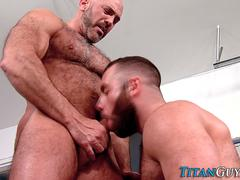 Ass pounded hung bear