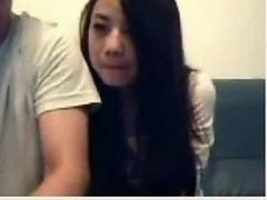 Chinese Couple Mess Around On Online camera