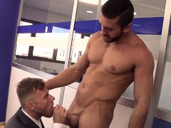 Muscle boy anal sex and cumshot