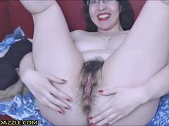 Hairy Mature Fucks Her Pussy