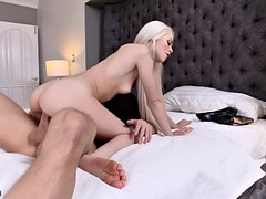 elsa jean treats foot fetishist with her petite feet