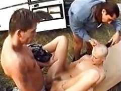 Head Shaving 3 Way With Cranial Cumshot!
