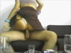 Hot butt latina rides on voyeur camera