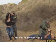 Gorgeous latina Alejandra Leon gave the agent a suck