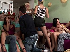 Kimmy, Leilani, Flower and Scarlett make one large orgy