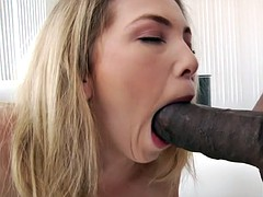 Blonde Angel Smalls gets fucked by BBC