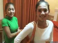 2 nice Filipinas with slurps boobs share