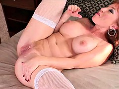 horny wife fucks her man as she helps him dry off