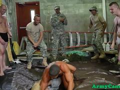 Real army jocks fucking after wrestling
