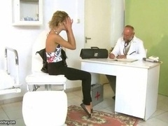 Lovely teen fucking with her old doctor