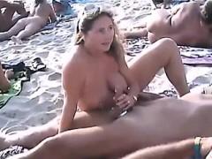 Mooie dikke vrouwen, Blond, Duits, Handbeurt, Buiten