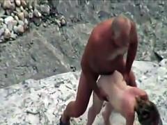 Couple At Nude Beach