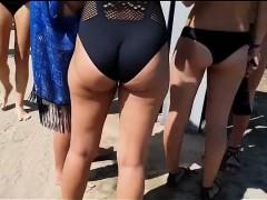 Beach cabin hidden voyeur