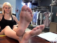 Blonde youngsters Foot Fetish