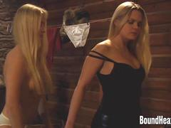 Undressing Lesbian Mistress Dressed In Leather