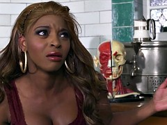 Brazzers - HOT ebony babe Jasmine Webb is taught to squirt