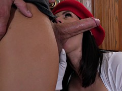 milf amber chase gives nice blow and tit jobs