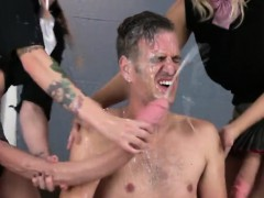 Sweeties screw men ass hole with big strap-ons and blast cum