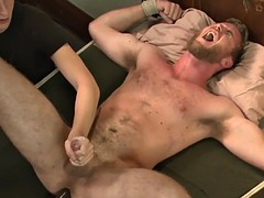 submissive studs jerked till the edge