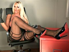 s66 lucy zara stockings , heels , feet and tits