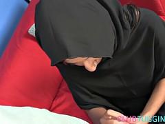 Arab milf tugging pov dick in hijab