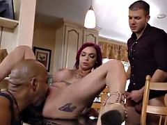 sexy tatoo girl takes BBC 2