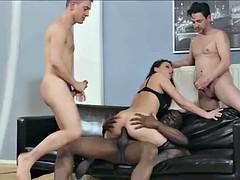 Interraced.com Cheating MILF gets DP in interracial scene