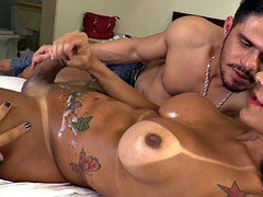 bigtitted muscles transsexual played while jerking