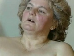 plumpish blonde granny with hairy pussy